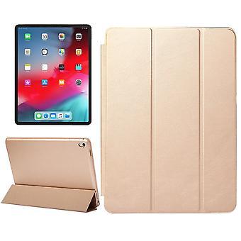 iPad Pro 11インチ(2018)ケース、ソリッドカラーPUレザーフォリオカバー、ゴールド