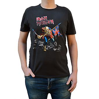 Amplificata Iron Maiden 1980 Tour Charcoal Crew Neck T-Shirt T-Shirt