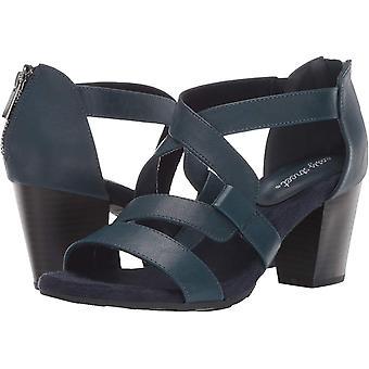 Easy Street Women's Amuse Dress Casual Sandal with Back Zipper Heeled