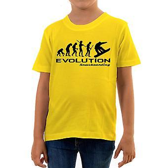Reality glitch evolution of snowboarding kids t-shirt