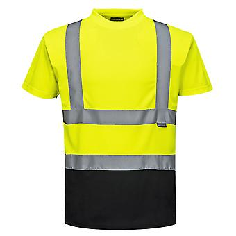 Portwest due toni di sicurezza workwear hi vis t-shirt s378
