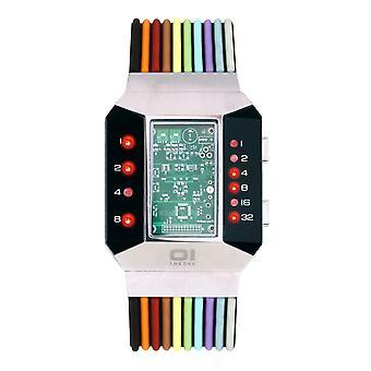 THE ONE Watch Men's Binary Wristwatch Split Screen SC102R6