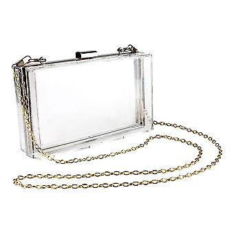 Transparent bag with chain - Silver