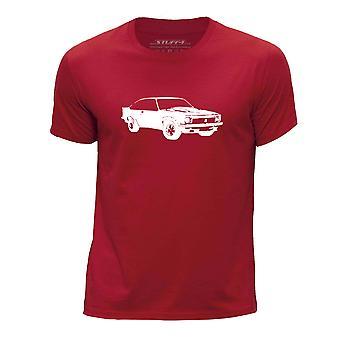 STUFF4 Boy's Round Neck T-Shirt/Stencil Car Art / LX Torana A9X/Red