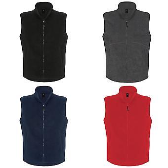 B&C Mens Traveller+ Full Zip Sleeveless Fleece Top