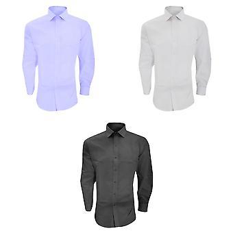 Brook Taverner Mens Alba Slim Fit Long Sleeve Easy Iron Work Shirt