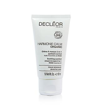 Decleor Harmonie Calm Organic Soothing Comfort Cream & Mask 2 In 1 - For Sensitive Skin (salon Product) - 50ml/1.8oz