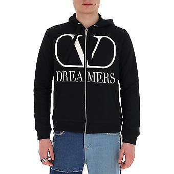 Valentino Garavani Tv0mf12x6c90ni Men's Black Cotton Sweatshirt
