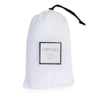 Loft 25 Essentials Sleeping Bag Liner | Camping Travel Sheet | Pillow Pocket | Hotel Business Holiday Use | Microfibre | Reusable and Lightweight (White)
