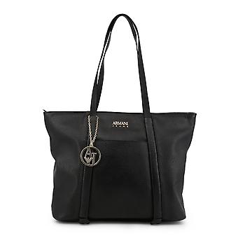 Armani Jeans Original Women All Year Shopping Bag - Black Color 34289