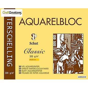 Schut Terschelling Watercoloured pad Classic 24x30cm 300 gram - 20 sheets