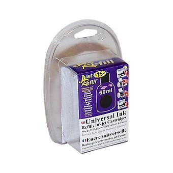 Just Refill 60ml Black Universal Refill Ink (English / French)