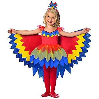 Girls Pretty Parrot Costume