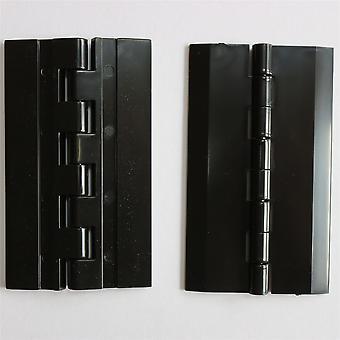 2x 75 x 45 mm zwart scharnier