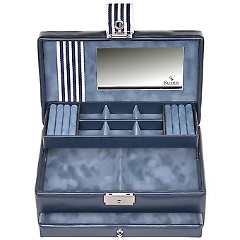 Sacher Jewelry Case Jewelry Box YOUNG Blue Castle Mirror Drawer