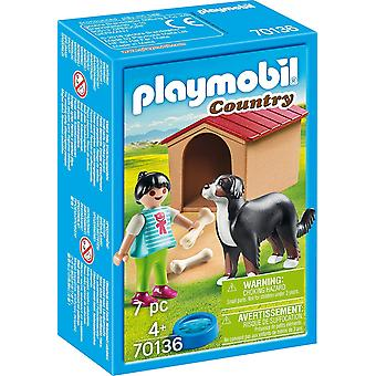 Playmobil 70136 Country Dog with Doghouse 7PC Playset