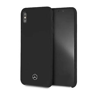 Mercedes-Benz Plain Backcover Case iPhone XS Max - Schwarz