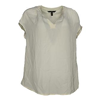 G.I.L.I. got it love it Women's Top Extended Shoulder Blouse Ivory A288469