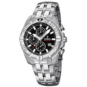 Festina Chrono Sport F20355-4 watch - klocka kronograf datum stål mannen