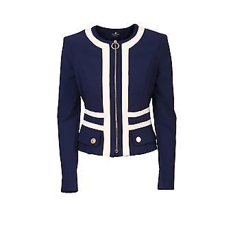 Elisabetta Franchi Gi94101e2y79 Kvinnor's Blue Nylon Blazer