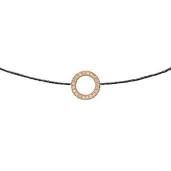 Choker Zon 18K Goud en Diamanten, op Thread - Rose Gold, Zwart