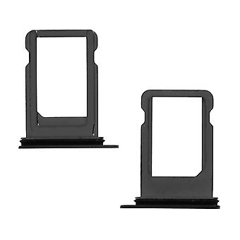 Nano-SIM card tray replacement part for Apple iPhone X - Black