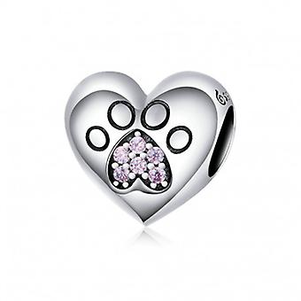Sterling Silver Charm Cat Paw - 6585