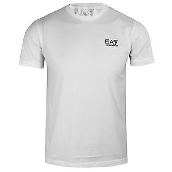 Ea7 emporio armani men's small logo white t-shirt