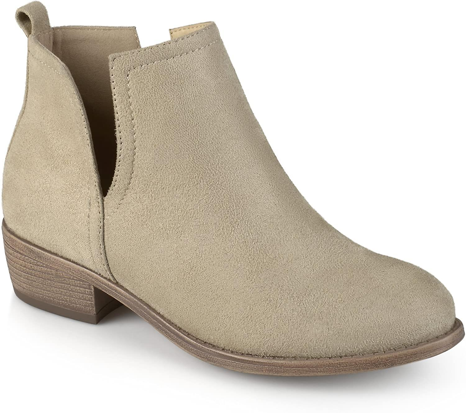 Journee Collection Womens Round Toe Faux Suede Boots Stone, 9 Reguliere US  qoVzsc