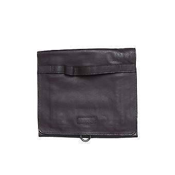 Luke 1977 Lorenzo Roll Down Brown Leather Wash Bag