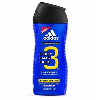 Adidas - A3 Sport Men Energy Shower Gel 3v1 - 400ML