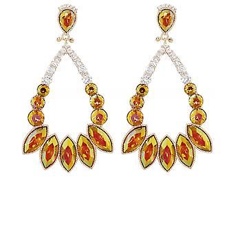 Uzurii Crystal Drop Earrings