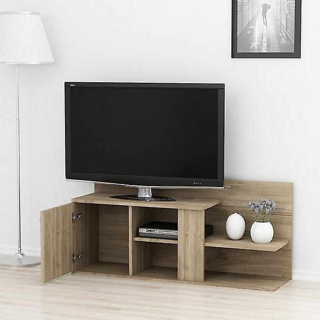 Mobile Porta TV Duru Colore Noce in Truciolare Melaminico, L122xP33,3xA55 cm
