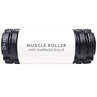 USA Pro Donne Massaggio Set Muscle Roller 2 Palle Dolore Fitness Fitness Sport