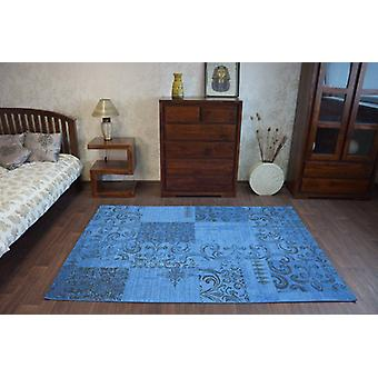 Rug VINTAGE 22215/073 blue / grey patchwork