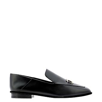 Salvatore Ferragamo 0733041 Mulheres's Black Leather Loafers