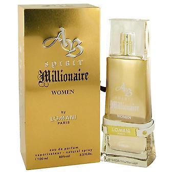 Spirit Millionaire Eau De Parfum Spray By Lomani 3.3 oz Eau De Parfum Spray