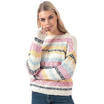Women's Vero Moda Morgane Stripe Jumper in Het Wit