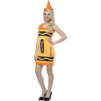 Costume adulte Crayola crayon orange
