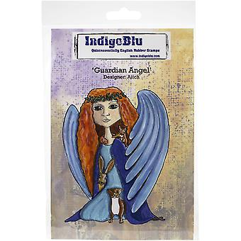 "IndigoBlu Cling Mounted Stamp 5""X4""-Guardian Angel"