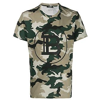 Camouflage Logo Print T-Shirt