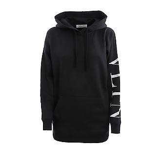 Valentino Ub3mf06g5m70ni Women's Black Cotton Sweatshirt