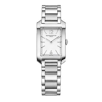 Baume & Mercier BM0A10473 Classima Rectangular Silver Tone Dial Wristwatch
