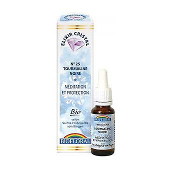 Black Tourmaline, Meditaatio, Organic Protection 20 ml kukka eliksiiri