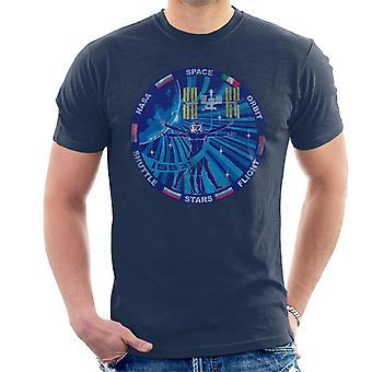 NASA ISS expeditie 37 missie Badge verdrietig T-Shirt voor mannen