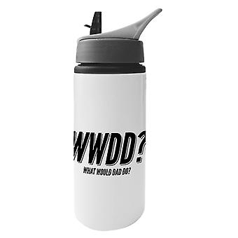 What Would Dad Do Aluminium Water Bottle With Straw