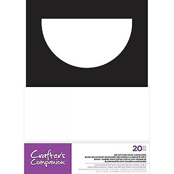 Crafter's Companion Half Moon Aperture 5x7 Inch Die-Cut Card Bases & Envelopes
