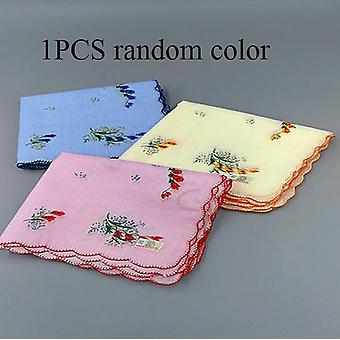 Luxury Handkerchief For Women - Embroidered Lace Floral Hankies For Ladies