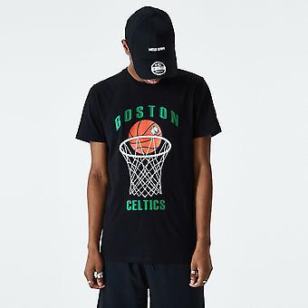 العصر الجديد الدوري الاميركي للمحترفين لكرة السلة تي شيرت ~ بوسطن سلتكس
