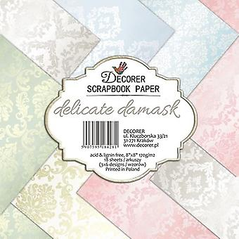 Decorer Delicate Damask 8x8 Inch Paper Pack